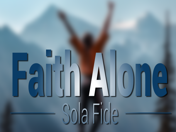 We are saved by faith alone.