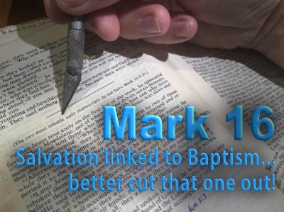 Mark 16 links salvation to baptism.
