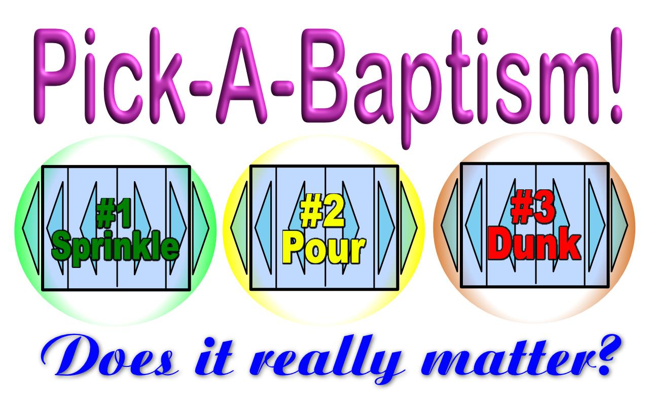 Methods of Baptism